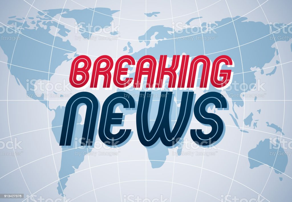 Breaking news vector background world news tv or internet channel breaking news vector background world news tv or internet channel translation illustration with world gumiabroncs Gallery