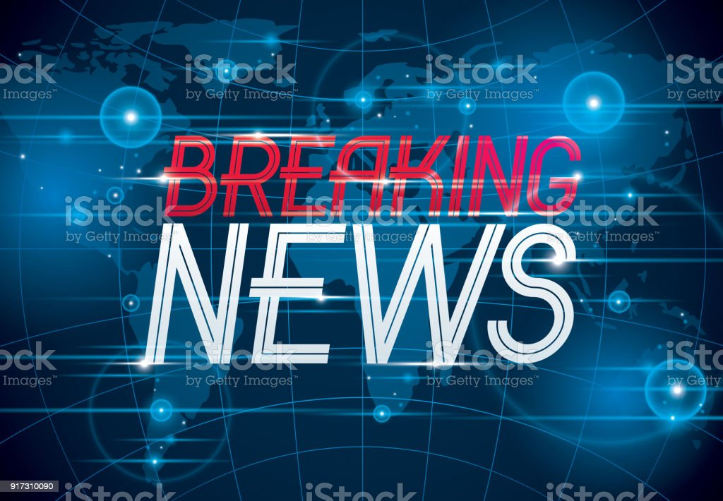 Breaking News Vector Background World News Tv Or Internet Channel