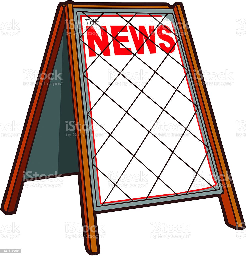 Breaking News royalty-free stock vector art
