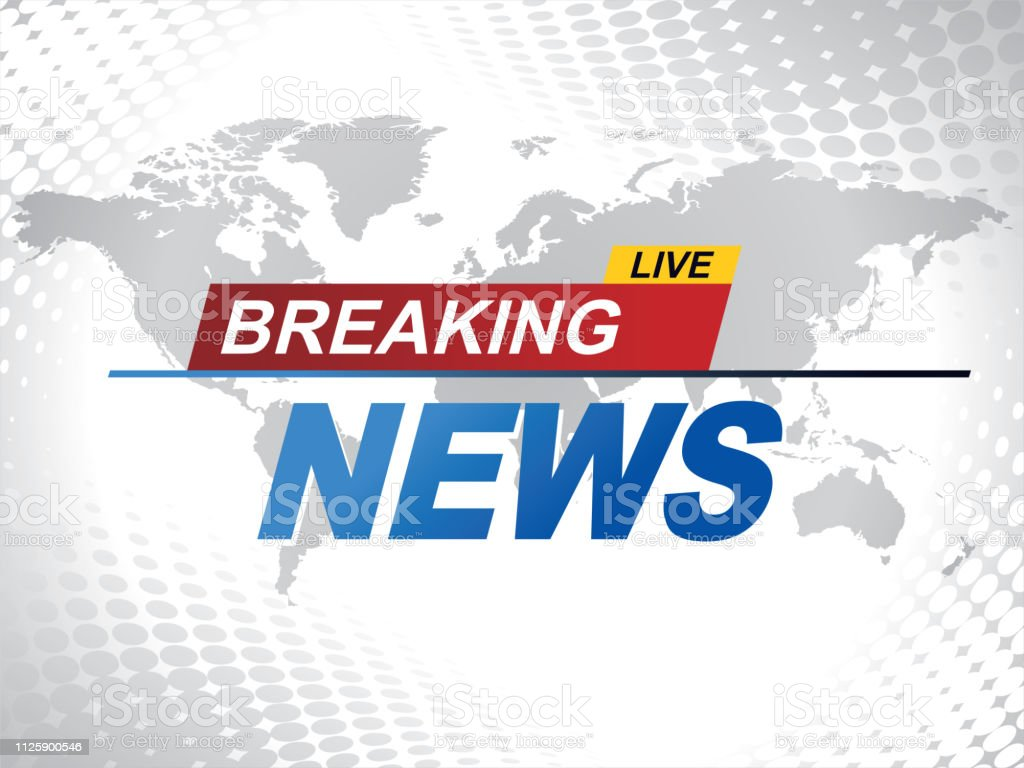 Breaking News With World Map Background Vector Stock ...