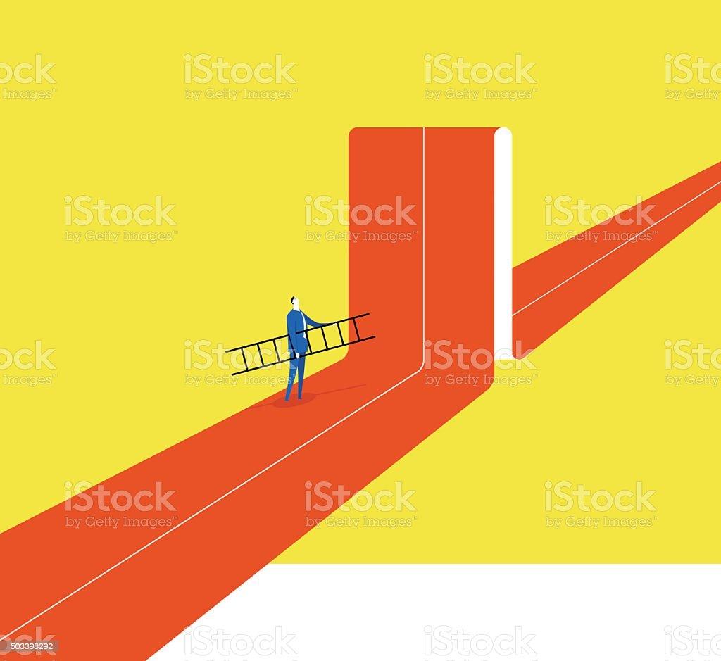 Breaking the status vector art illustration