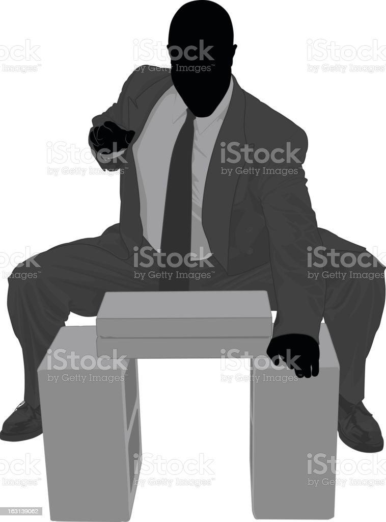 Breakthrough business vector art illustration
