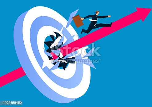 istock Breakthrough the target, go forward, conquer adversity 1202458450