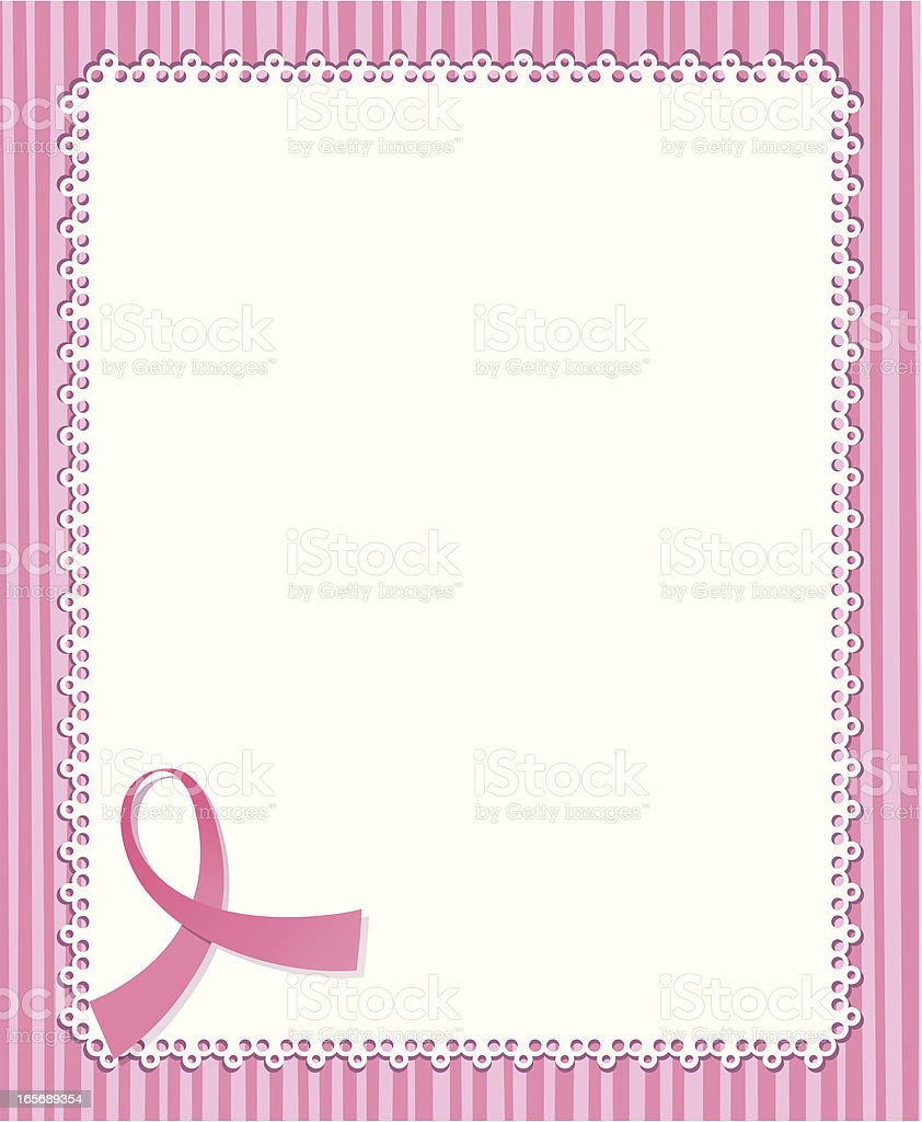 Breast cancer awareness background royalty-free stock vector art