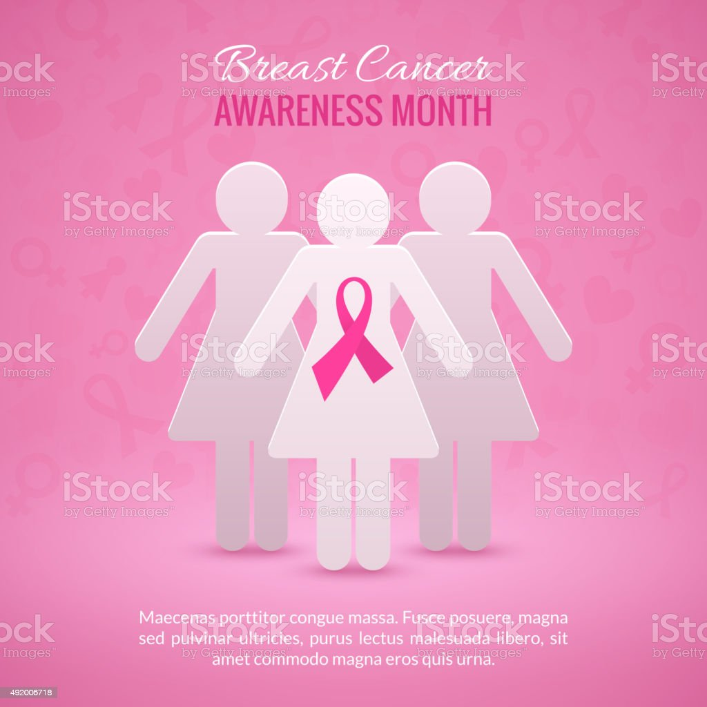 Breast Cancer Awareness Background vector art illustration