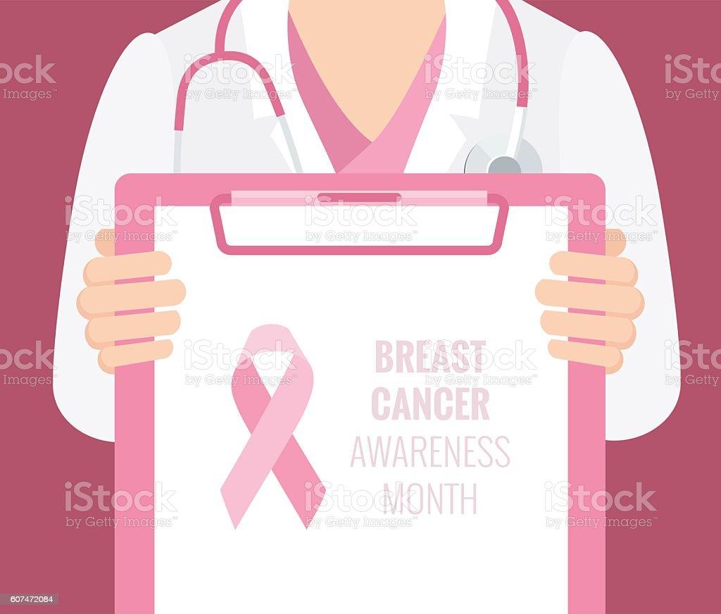 Breast Cancer Awareness  Background. vector art illustration