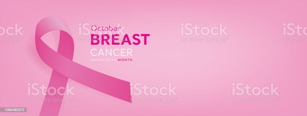 Breast Cancer Awareness Campaign Banner Background With Pink Ribbon Stock Illustration Download Image Now Istock