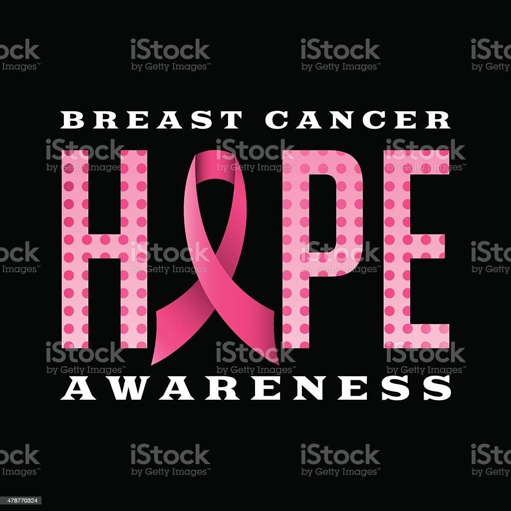 Breast Cancer Awareness Hope Message Illustration vector art illustration