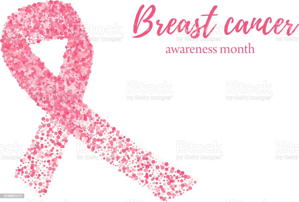 breast cancer awareness month abstract pink ribbon from dots stock rh istockphoto com October Cancer Awareness Clip Art breast cancer awareness month pink ribbon clip art