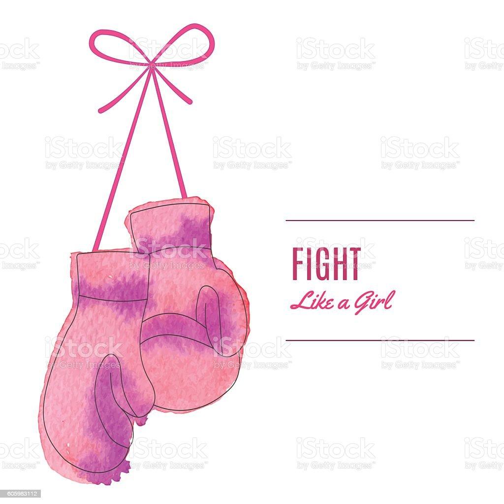 Breast Cancer Awareness Month Background vector art illustration