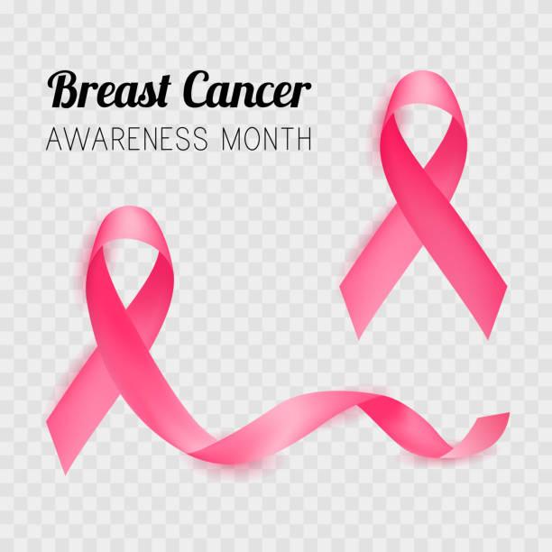 ilustrações, clipart, desenhos animados e ícones de mês de conscientização do câncer de mama. fita rosa. vector - pink october