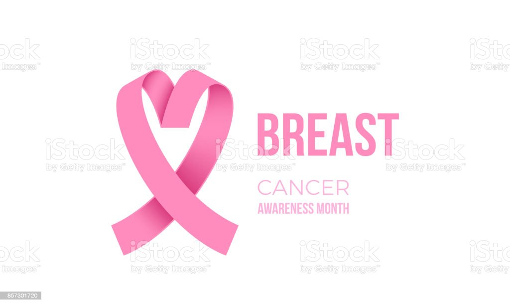Breast Cancer Awareness Month Pink Ribbon Vector Women Solidarity