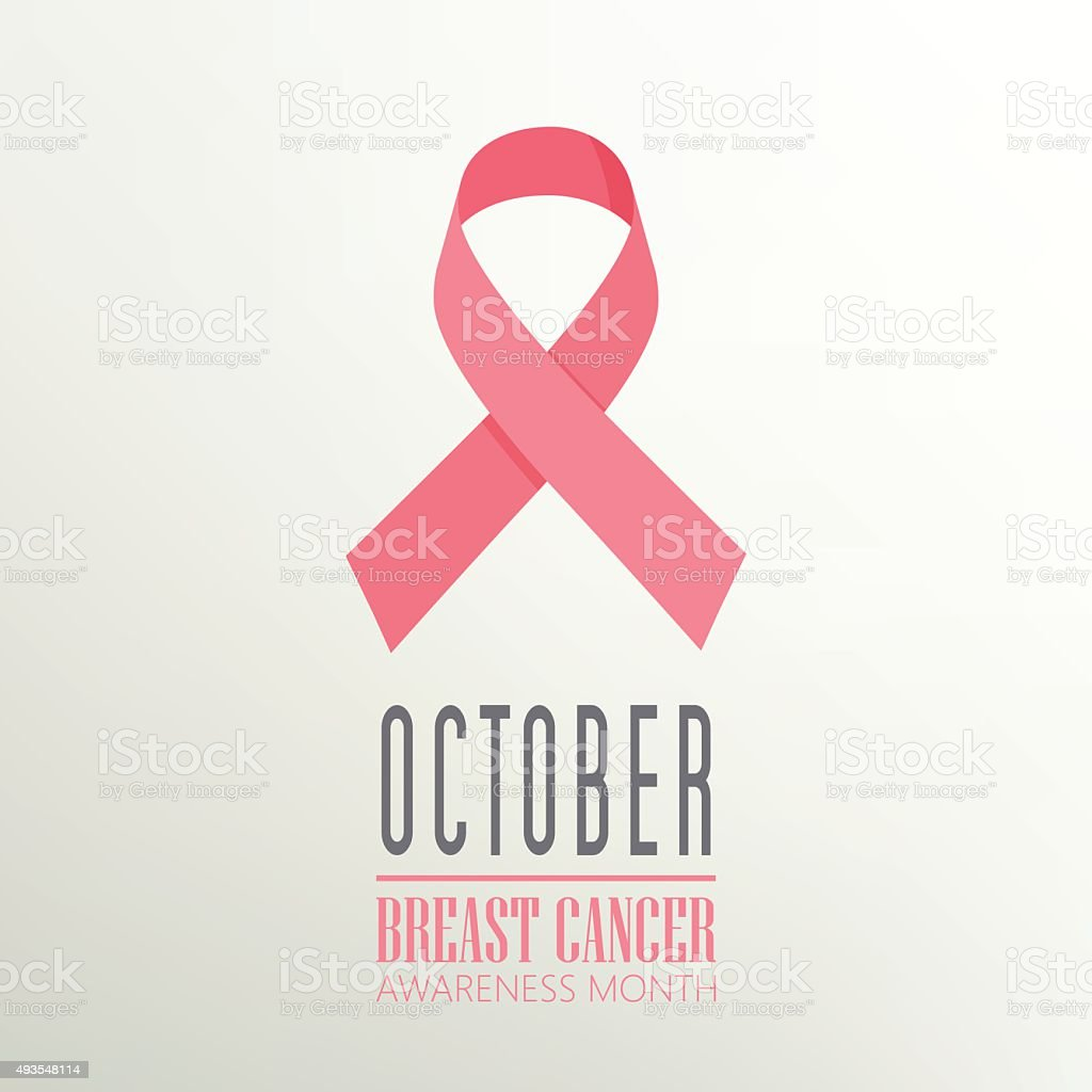 Breast Cancer awareness month. vector art illustration