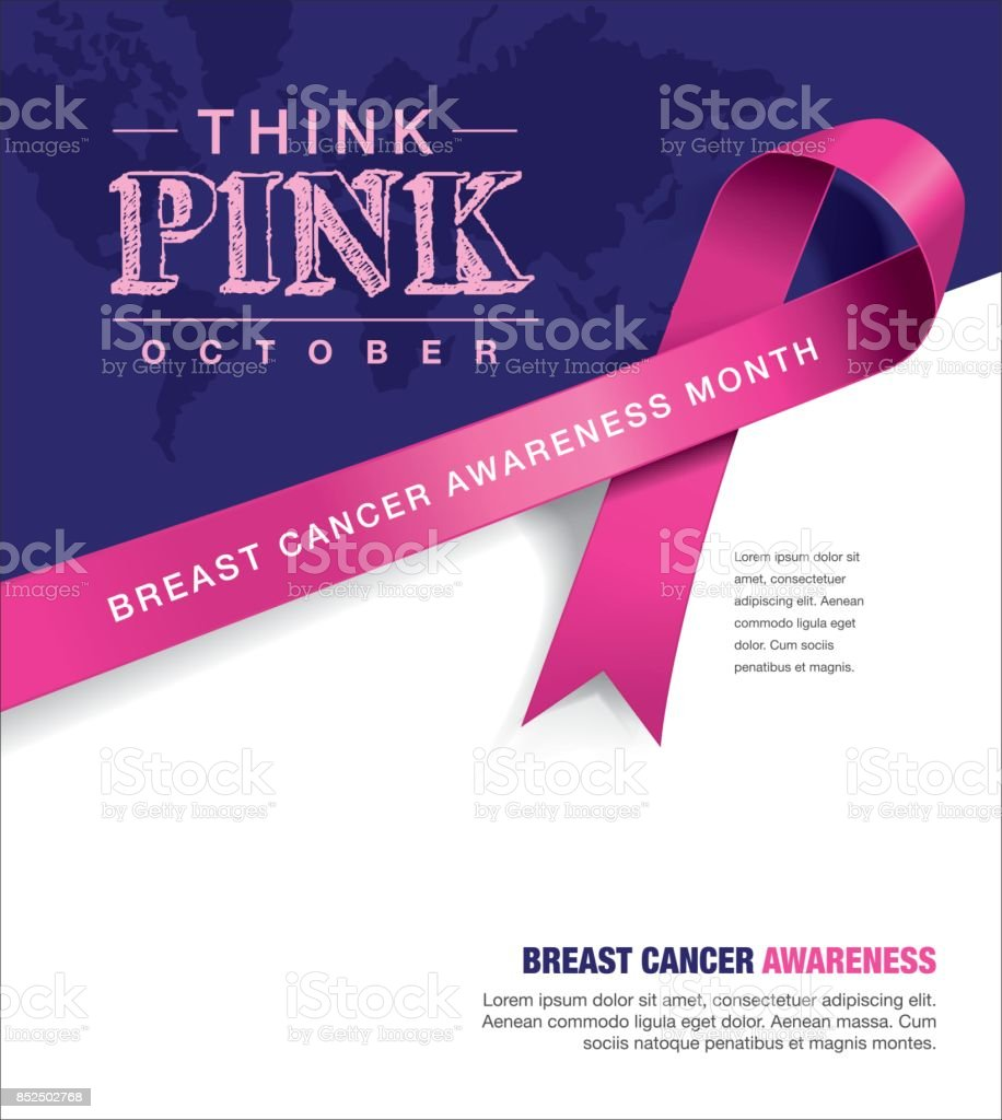 Breast Cancer Awareness Month vector art illustration