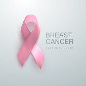 Breast Cancer Awareness Pink Ribbon.