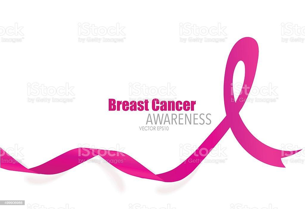 Breast cancer awareness pink ribbon. Vector Illustration. vector art illustration