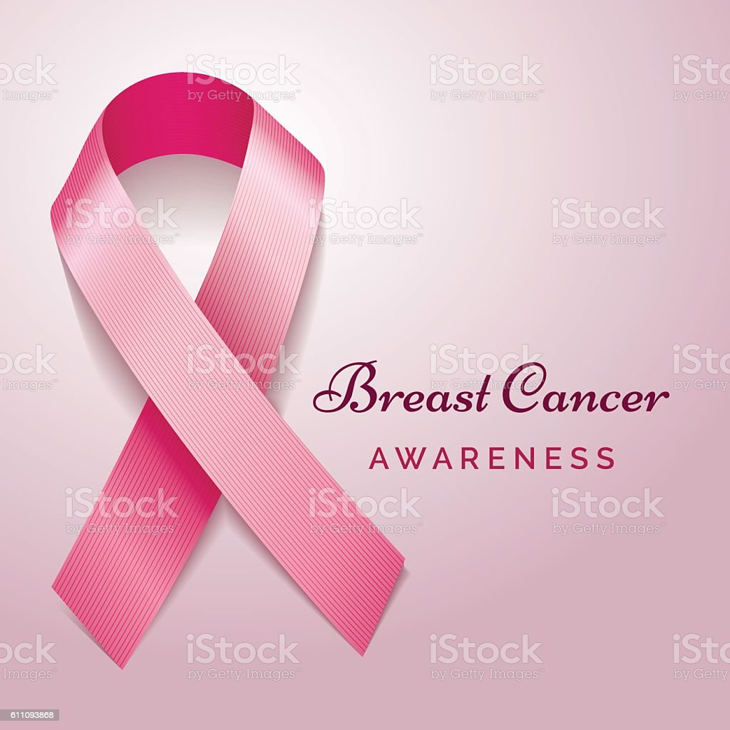 Breast cancer awareness poster vector art illustration