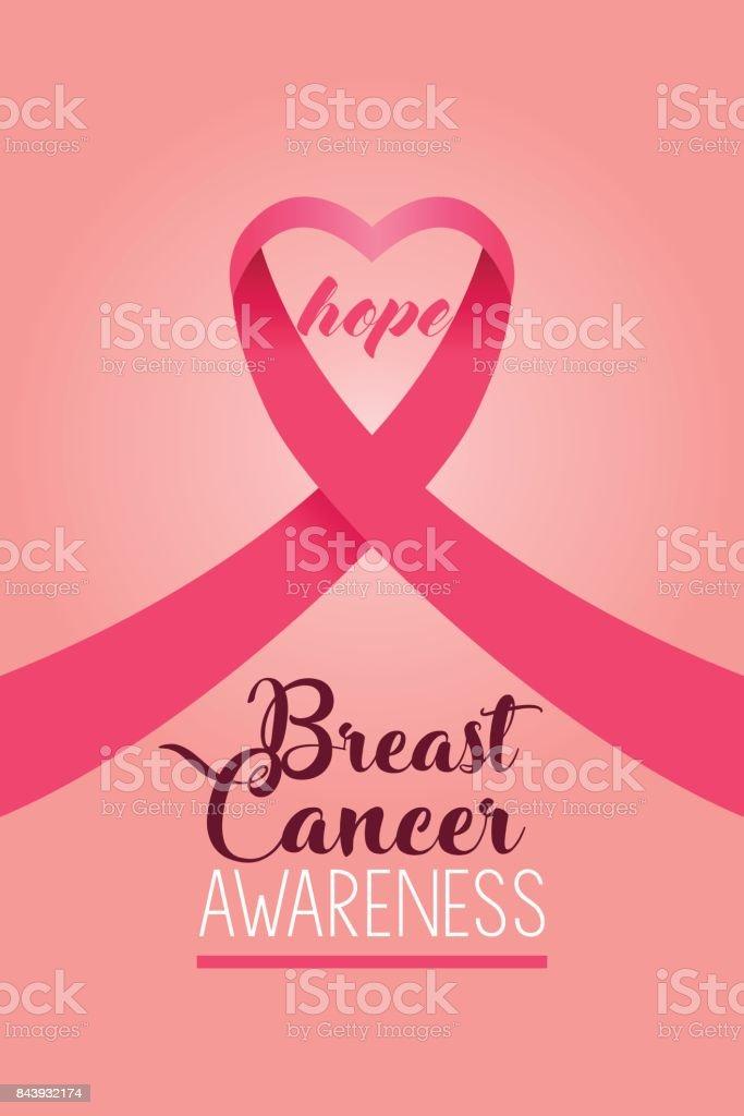 Breast Cancer Awareness Poster vector art illustration