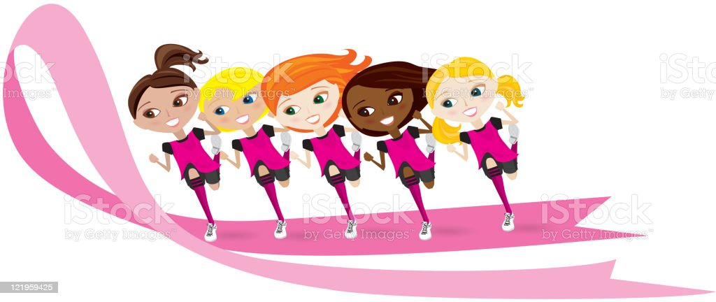 Breast Cancer Awareness Race for Cure royalty-free stock vector art