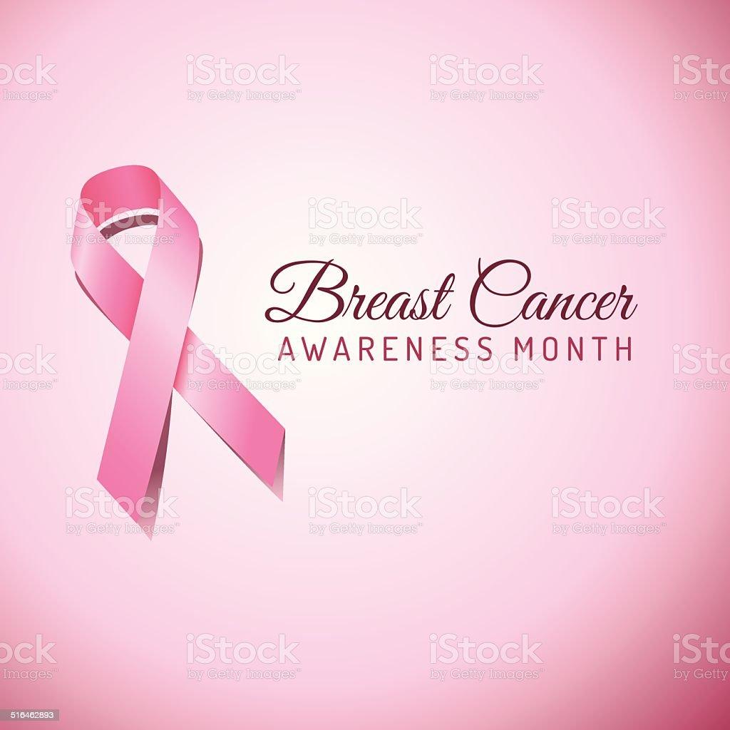 Breast Cancer Awareness Ribbon Background vector art illustration