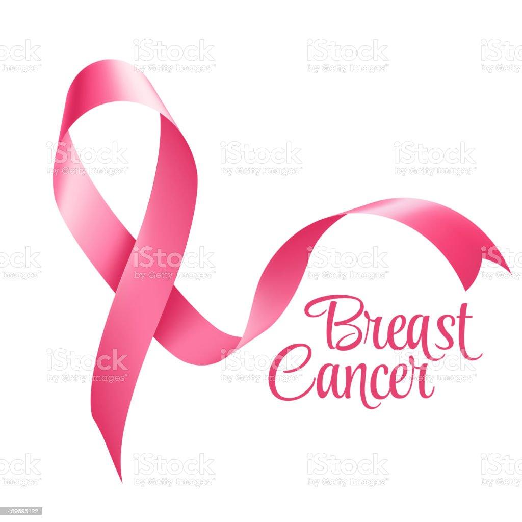 Breast Cancer Awareness Ribbon Background. Vector illustration vector art illustration