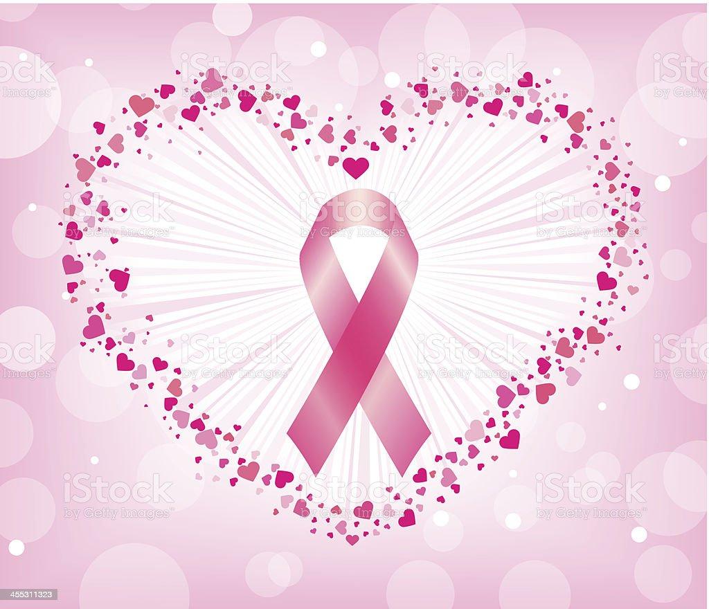 lutte contre le cancer du sein dans le c ur stock vecteur libres de droits 455311323 istock. Black Bedroom Furniture Sets. Home Design Ideas