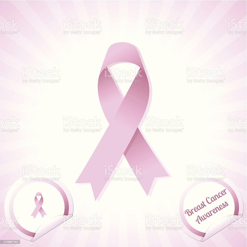 Breast Cancer Awareness Ribbon royalty-free stock vector art