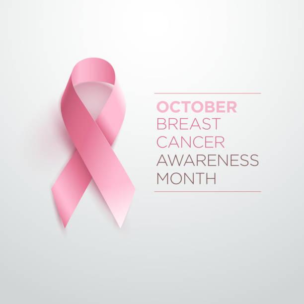 wstążka uświadamiające o raku piersi - różowy stock illustrations