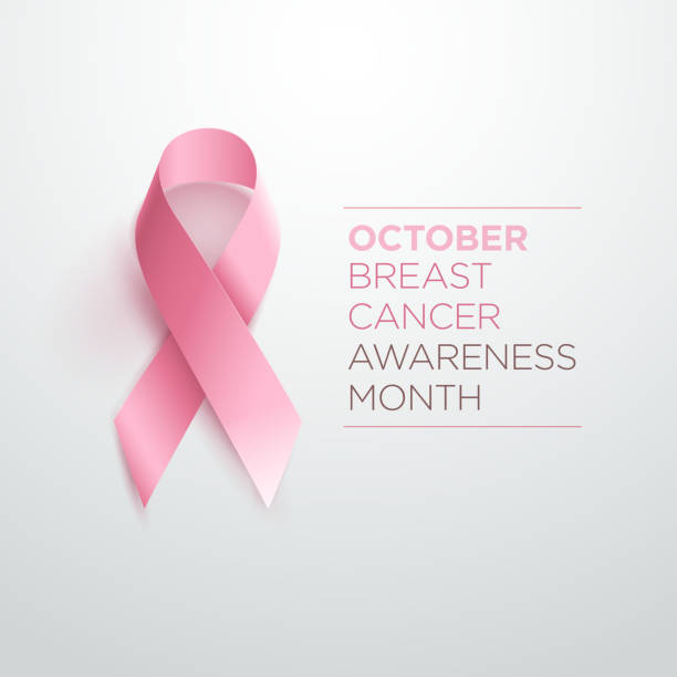 stockillustraties, clipart, cartoons en iconen met breast cancer awareness lint - breast cancer