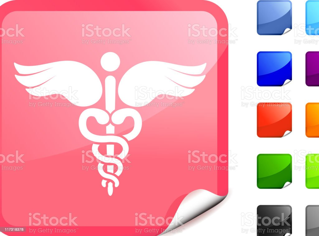 Breast cancer medical caduceus royalty free vector art Pink Sticker royalty-free breast cancer medical caduceus royalty free vector art pink sticker stock vector art & more images of animal body part