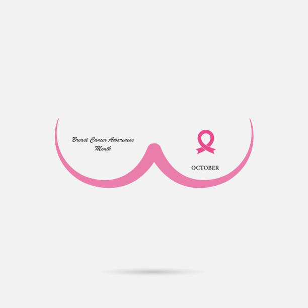 Breast Cancer October Awareness Month Campaign Background.Women health vector design.Breast cancer awareness icon design.Breast cancer awareness month icon.Realistic pink ribbon. Breast Cancer October Awareness Month Campaign Background.Women health vector design.Breast cancer awareness icon design.Breast cancer awareness month icon.Realistic pink ribbon.Vector illustration breast stock illustrations
