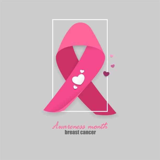 breast cancer pink ribbon - ovarian cancer ribbon stock illustrations