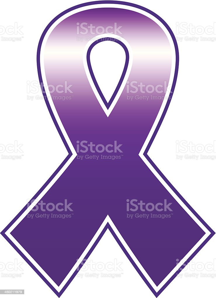 Breast cancer purple ribbon isolated on white royalty-free breast cancer purple ribbon isolated on white stock vector art & more images of abstract