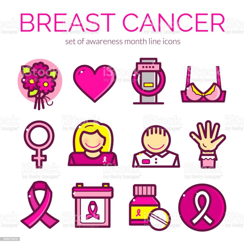 Breast Cancer vector illustration vector art illustration