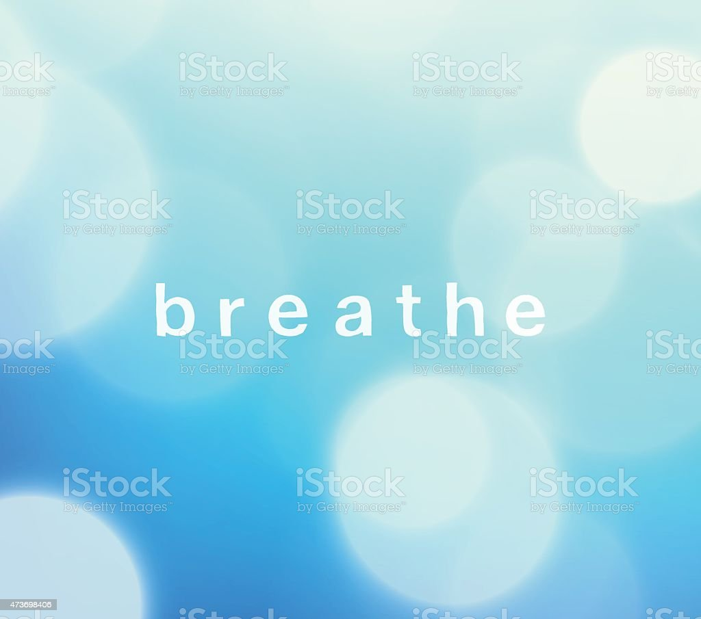 Breathe Defocus Blue Sky Stock Vector Background vector art illustration