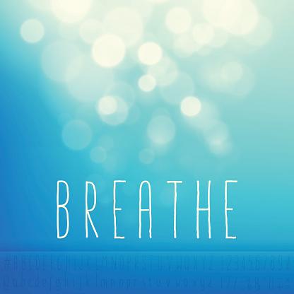 Breathe Stock Vector Background Word Blue Sky Text Alphabet