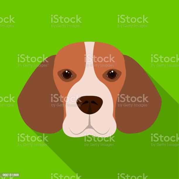 Ras Hund Beagle Munkorg Beagle Enda Ikon I Platt Stil Vektor Symbol Stock Illustration Web-vektorgrafik och fler bilder på Beagle