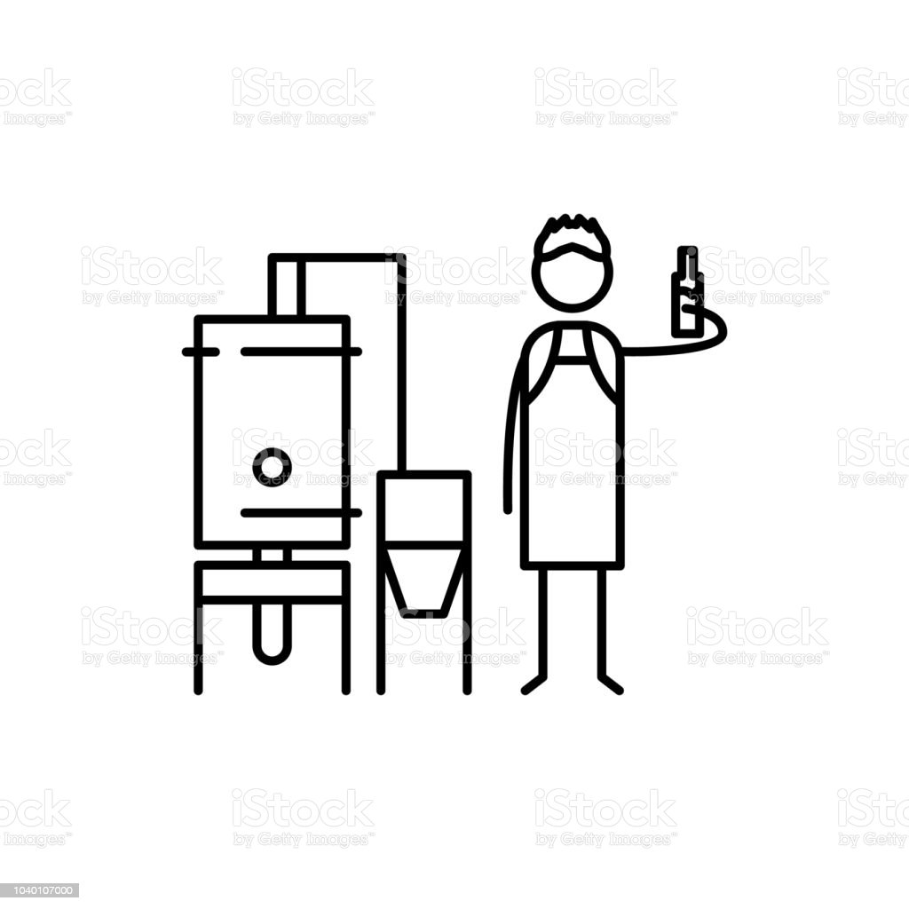brewer icon. Element of human hobbies icon for mobile concept and web apps. Thin line brewer icon can be used for web and mobile vector art illustration