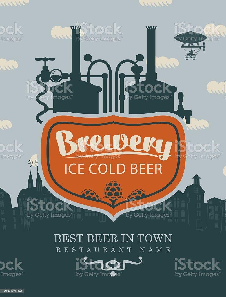 cervejaria cerveja na cidade velha - ilustração de arte em vetor