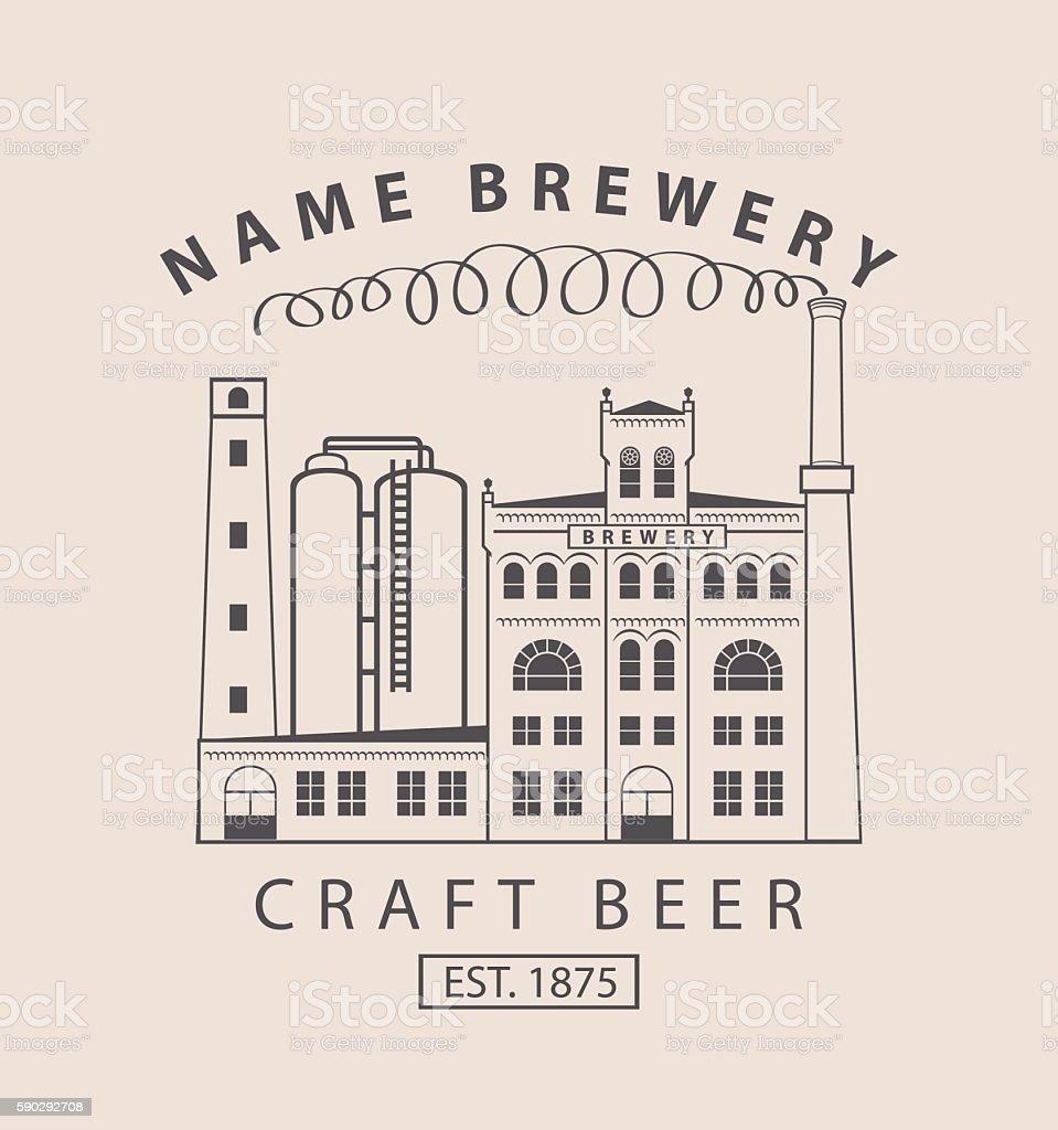 brewery building in retro style brewery building in retro style — стоковая векторная графика и другие изображения на тему Алкоголь Стоковая фотография