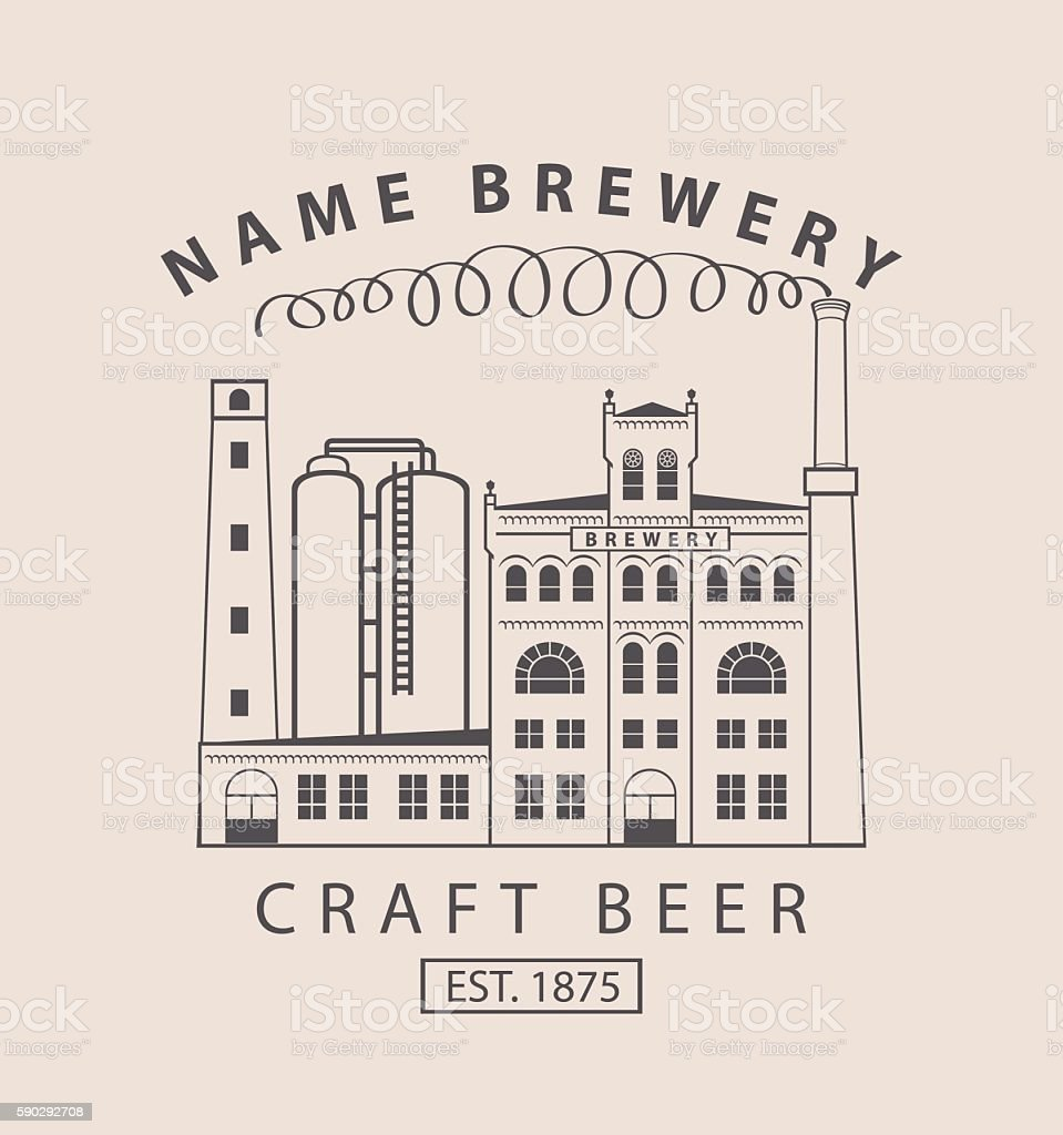 brewery building in retro style royaltyfri brewery building in retro style-vektorgrafik och fler bilder på alkohol