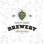 Craft Beer Vector Design. Emblem For Beer House, Brewing Company, Pub, Bar on The Bottle Cap. Vector Illustration