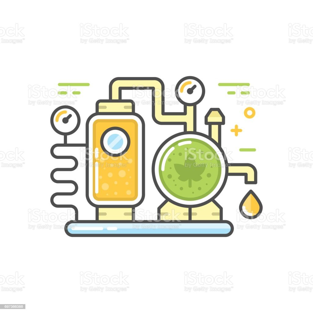 Brewery line concept vector art illustration
