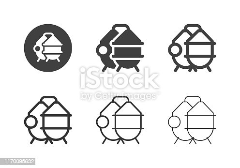 Brewery Process Tank Icons Multi Series Vector EPS File.