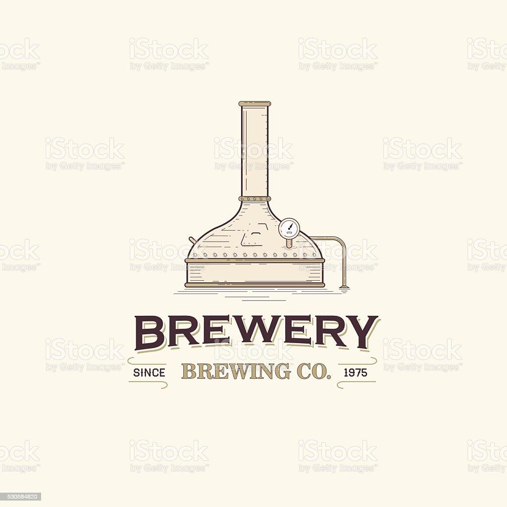 Brewery vector art illustration