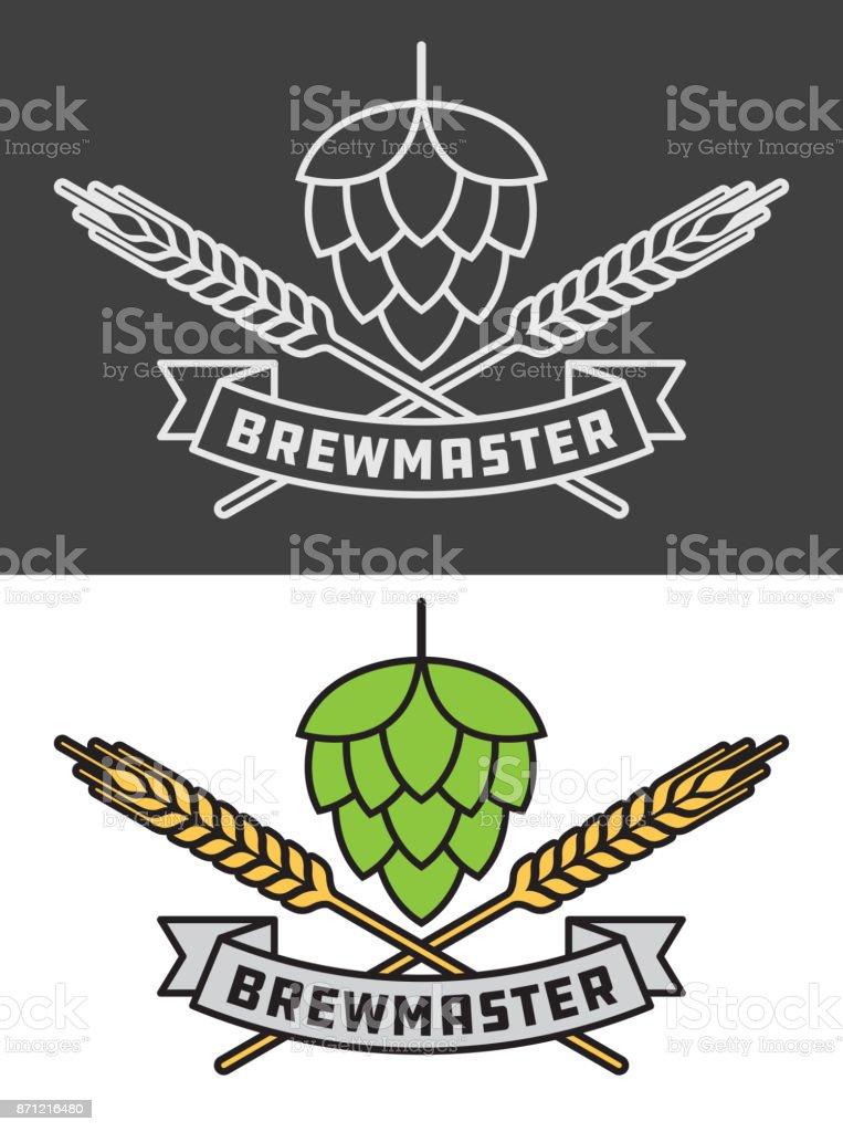 Brewmaster Craft Beer Vector Design vector art illustration