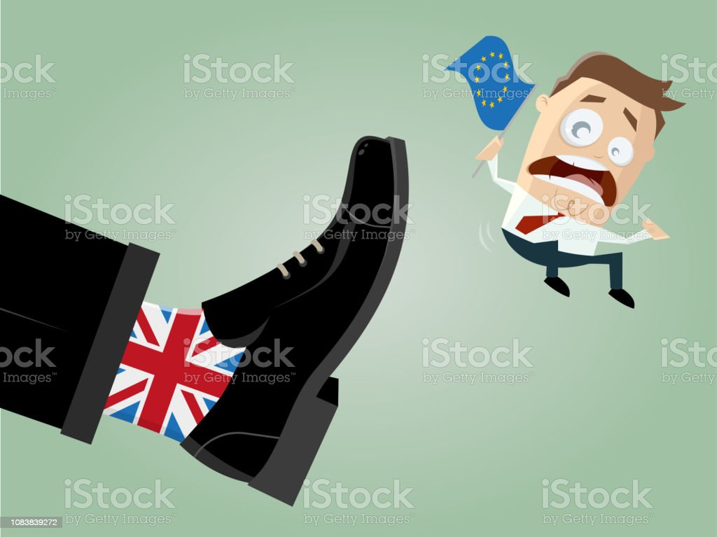 brexit Great Britain EU exit illustration vector art illustration