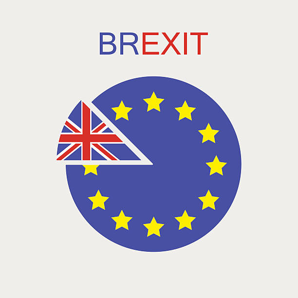 bildbanksillustrationer, clip art samt tecknat material och ikoner med brexit. uk exit from the eu. vector. isolated. - brexit