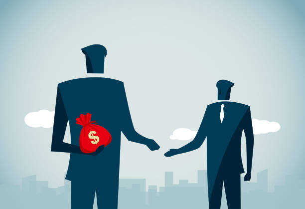 ilustrações de stock, clip art, desenhos animados e ícones de bribing - corruption