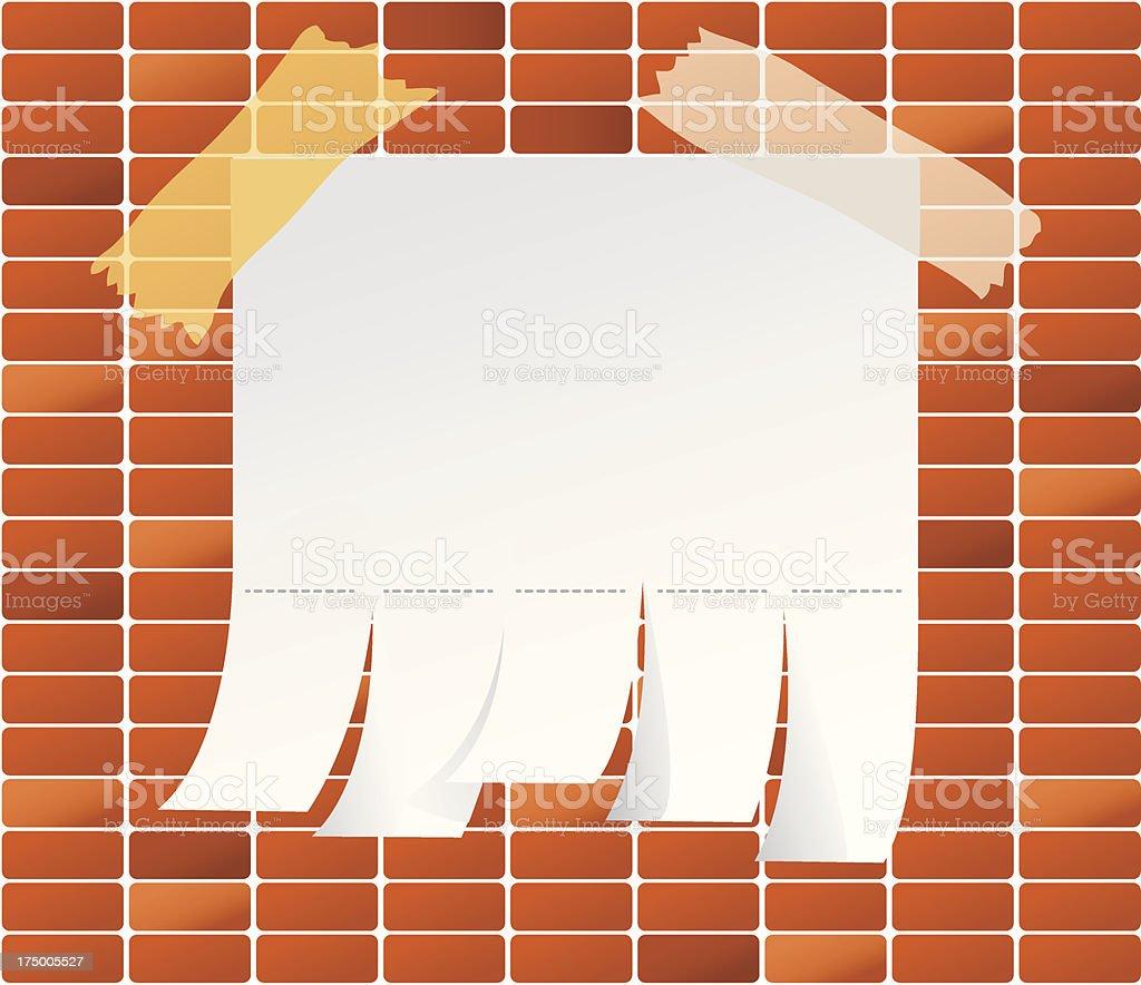Brick de trás - ilustração de arte vetorial